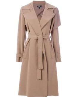 Draped Fitted Coat