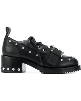 Studded Platform Lace-up Shoes