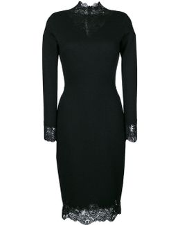 Lace Trim Fitted Dress