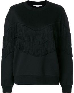 Fringe-trimmed Sweatshirt