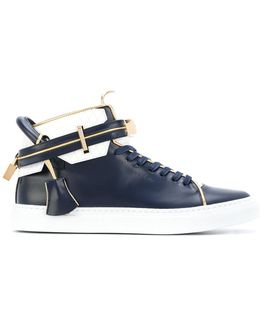 Buckle Hi-top Sneakers