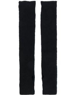 Long Knitted Fingerless Gloves
