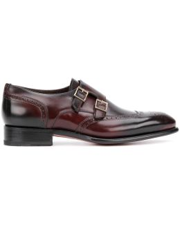 Brogue Detail Monk Shoes