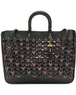 Chain Link Woven Tote
