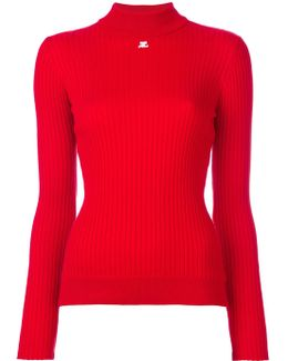 Ribbed Knitted Blouse