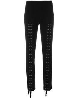 Eyelet Lace Up Trousers