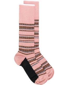 Striped Glitter Socks