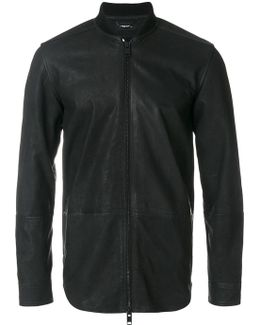 Leather Zip Fastened Jacket