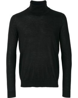 Fine Knit Roll-neck Sweater