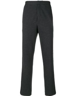 Tapered Fit Stripe Trousers