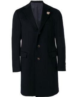 Flap Pockets Midi Coat