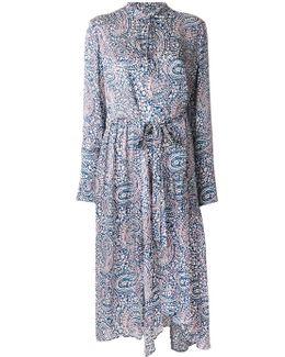 Paisley Print Longsleeved Dress