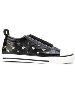 Star Studded Lace-up Sneakers