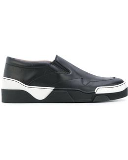 Geometric Panelled Sneakers