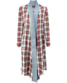 Vintage Check Long Kimono