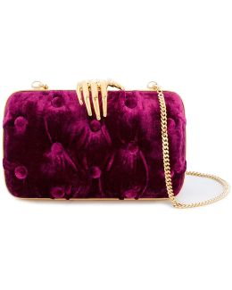 Hand Detail Clutch Bag