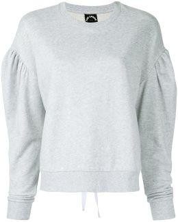Laced Fleece Crew Sweatshirt