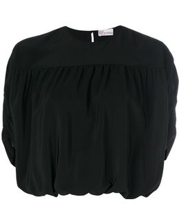 Cropped Sleeves Blouse
