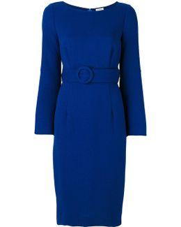 Belted Waist Midi Dress
