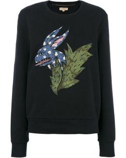 Beasts Motif Cotton Sweatshirt