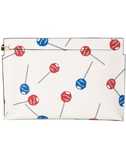 Lollipops T Print Clutch