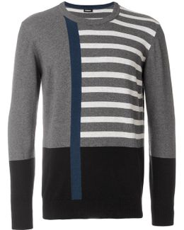 Abstract Striped Jumper