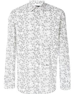 Star Print Collared Shirt