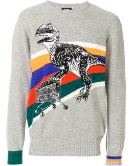 T-rex Knitted Jumper