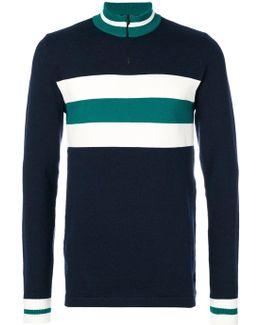 Striped Zipped Sweater