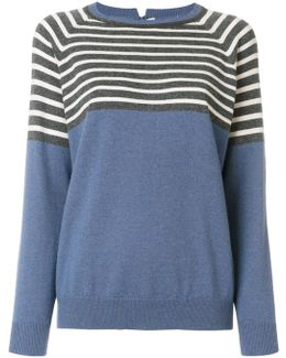 Striped Panel Knitted Top