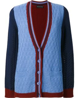 Colour-block Knitted Cardigan