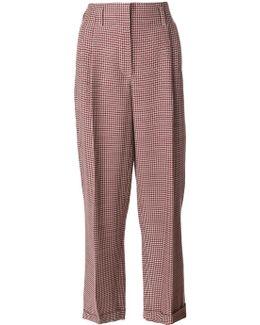 Patterned High Waist Trousers