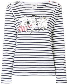 Moomin Family Print T-shirt