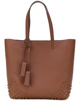Embossed Detailing Shopping Bag