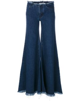 Flared Wide-leg Jeans