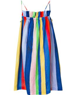 Gathered Stripe Dress