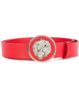 Lion Head Plaque Belt