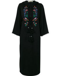 Peacock Hooded Kaftan Dress