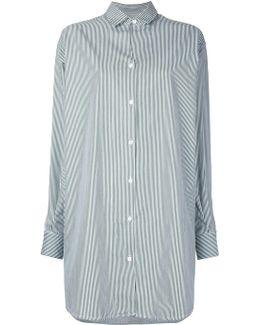 Oversized Railroad Shirt Dress