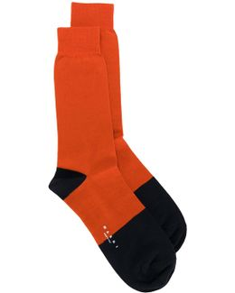 Colour Block Ankle Socks