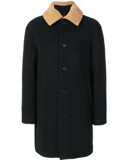 Furry Collar Midi Coat