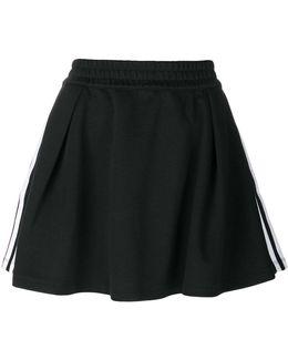 Pleated Three-stripe Skirt