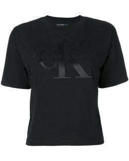 Cropped Logo Print T-shirt