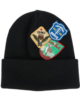 Patch Embroidered Beanie Hat