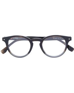 Round Contrast Colour Frame Glasses