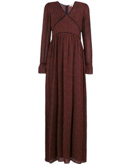 Fitted Long-sleeved Maxi Dress