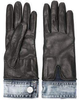 Denim Detail Gloves