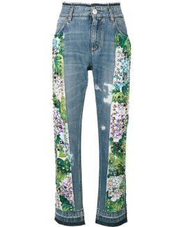 Studded Hydrangea Jeans