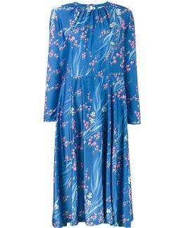 Slide Japanese Print Dress