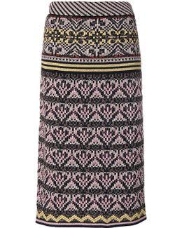 Knitted Straight Midi Skirt
